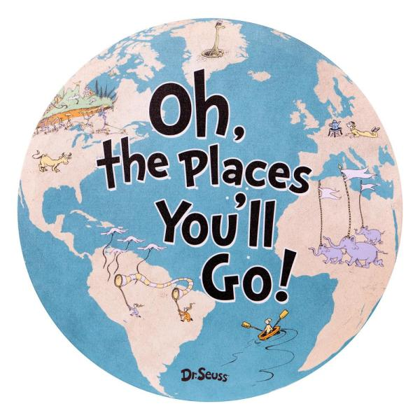 Pinnacle Dr. Seuss Oh The Places You'll Go World Map Canvas Wall ...