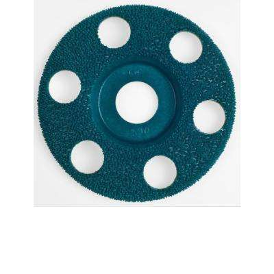 4 in. Flat Fine Green 90 Disc for Woodworking