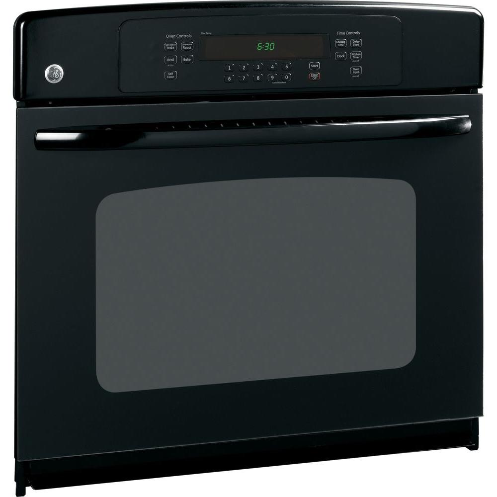 GE 30 in. Single Electric Wall Oven Self-Cleaning with Convection in Black GE appliances provide up-to-date technology and exceptional quality to simplify the way you live. With a timeless appearance, this family of appliances is ideal for your family. And, coming from one of the most trusted names in America, you know that this entire selection of appliances is as advanced as it is practical. Color: Black.