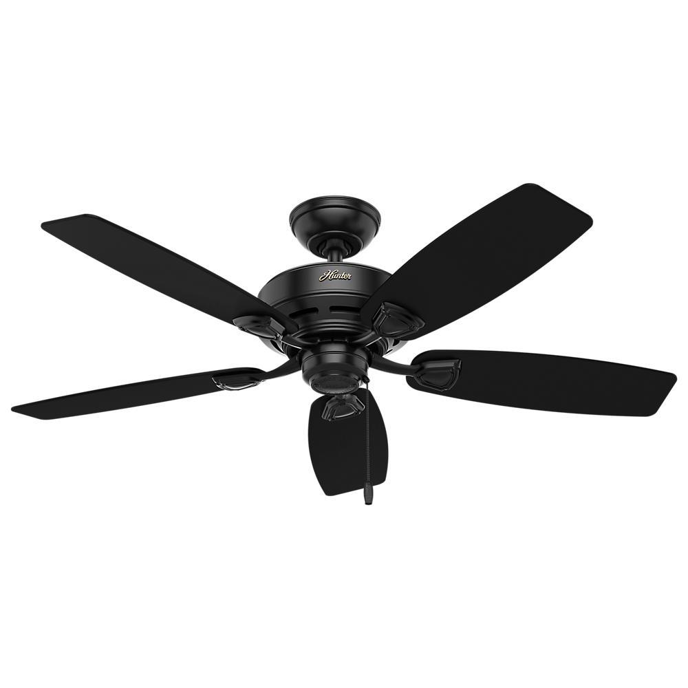 Sea Wind 48 in. Indoor/Outdoor Matte Black Ceiling Fan