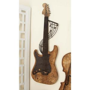 14 inch x 36 inch New Traditional Wooden Violin Wall Decor by