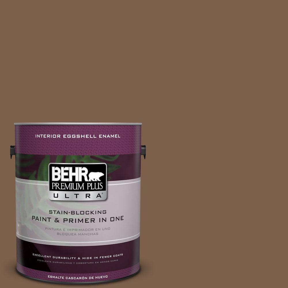 BEHR Premium Plus Ultra 1-gal. #PMD-60 Rich Walnut Eggshell Enamel Interior Paint