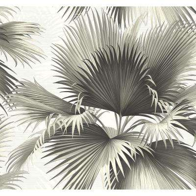 Endless Summer Black Palm Wallpaper