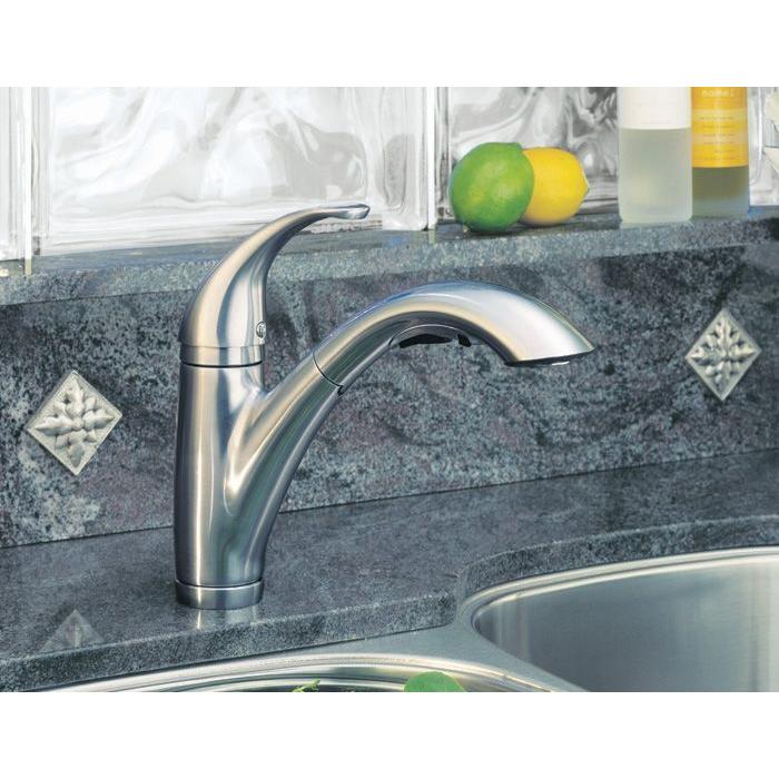 Pfister Parisa 1-Handle Kitchen Faucet with Side Spray Stainless Steel