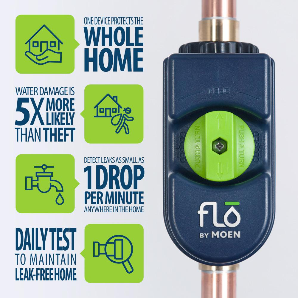 MOEN Flo by Moen Smart Home Water Monitoring, Alarm and Automatic Shutoff System
