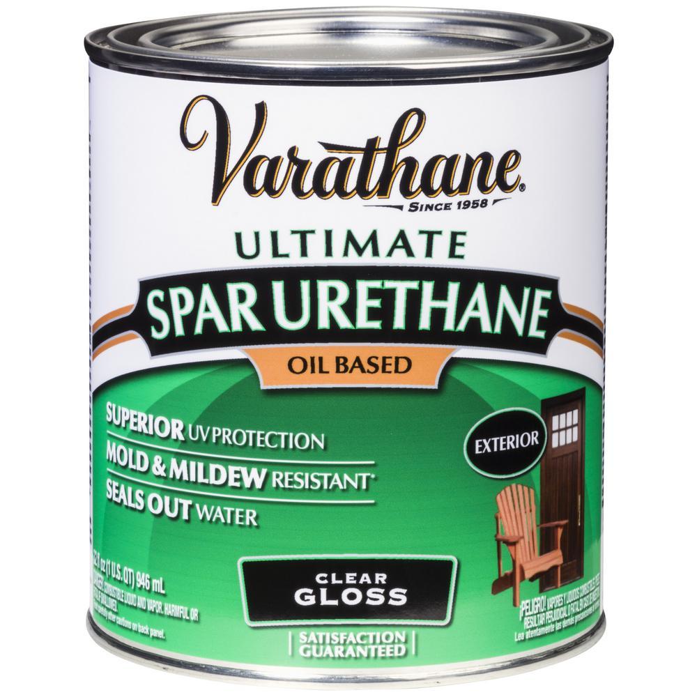 Varathane 1 Qt Clear Gloss Oil Based Exterior Spar Urethane 9241h