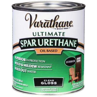 1 qt. Clear Gloss Oil-Based Exterior Spar Urethane (2-Pack)