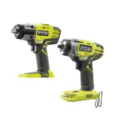 18-Volt ONE+ Lithium-Ion Cordless 3-Speed 1/2 in. Impact Wrench and 3/8 in. 3-Speed Impact Wrench (Tools Only)