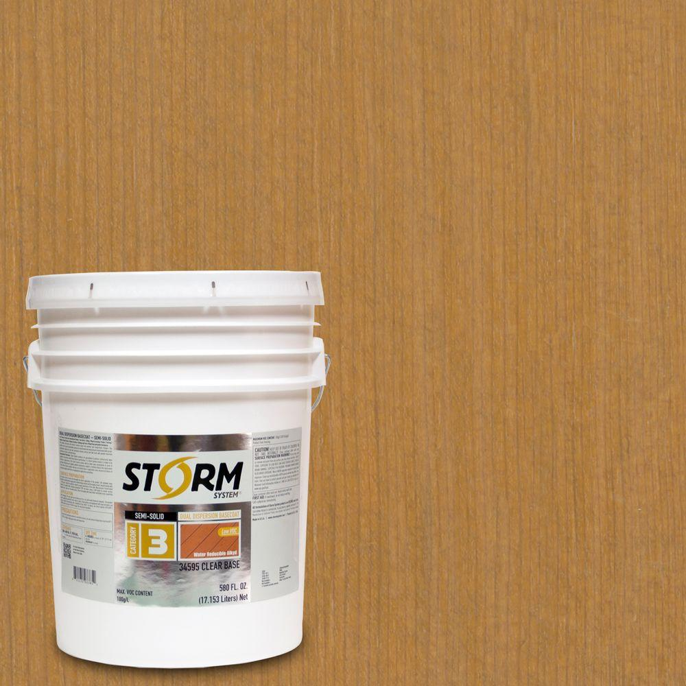 Storm System Category 3 5 gal. Natural Light Exterior Semi-Solid Dual Dispersion Wood Finish