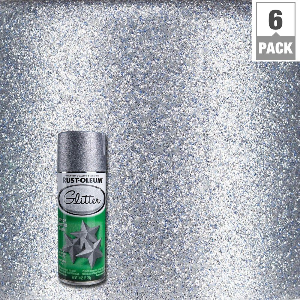Rust Oleum Specialty 10 25 Oz Silver Glitter Spray Paint