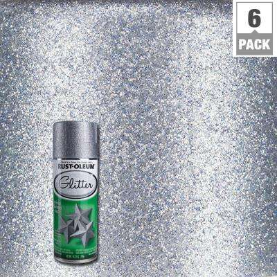 10.25 oz. Silver Glitter Spray Paint (6-Pack)