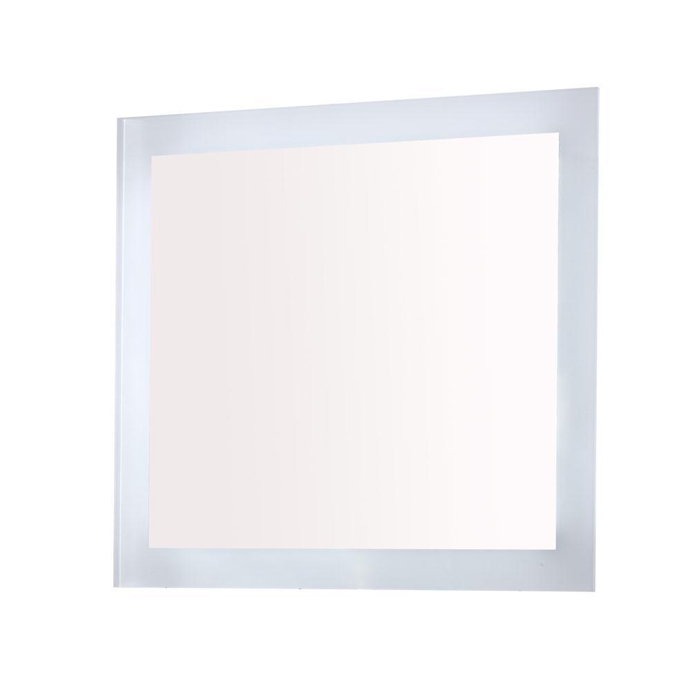 Innolight 30 in. W x 27 in. H Frameless Rectangular LED Light Bathroom Vanity Mirror