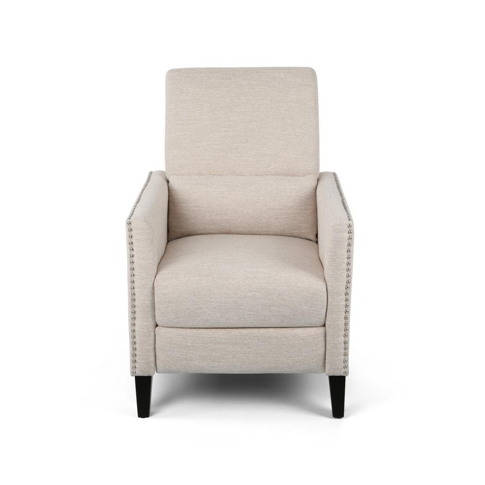 NOBLE HOUSE HOME FURNISH Alscot Beige and Dark Brown Fabric Push Back Recliner, Beige;Dark Brown was $338.96 now $272.57 (20.0% off)