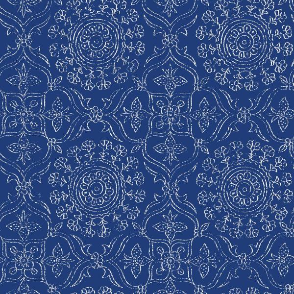 NuWallpaper Blue Byzantine Peel and Stick Wallpaper NU1816