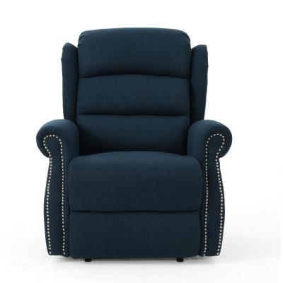 Dezzie Navy Blue Power Recline Tufted Recliner