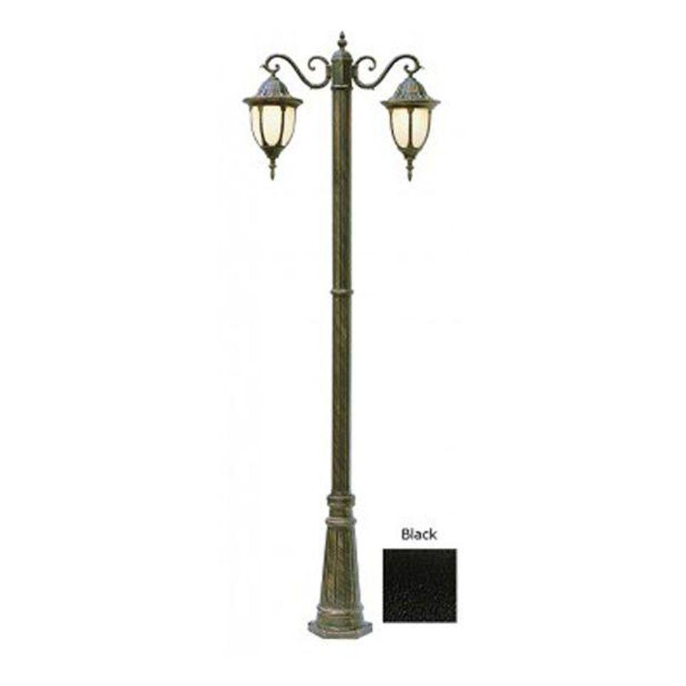 Cabernet Collection 2 Light 93 in. Outdoor Black Pole Lantern with