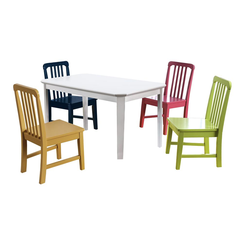 Furniture of America Shania 10-Piece Multi Youth Dining Set-IDF-31026T-10PK -  The Home Depot
