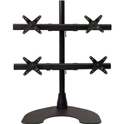 Freedom Quad 2 x 2 Desk Stand with 28 in. Pole and Heavy Duty Base