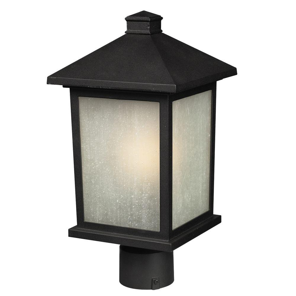 1-Light Outdoor Black Post Light