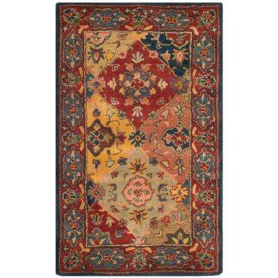 Heritage Red/Multi 3 ft. x 5 ft. Area Rug