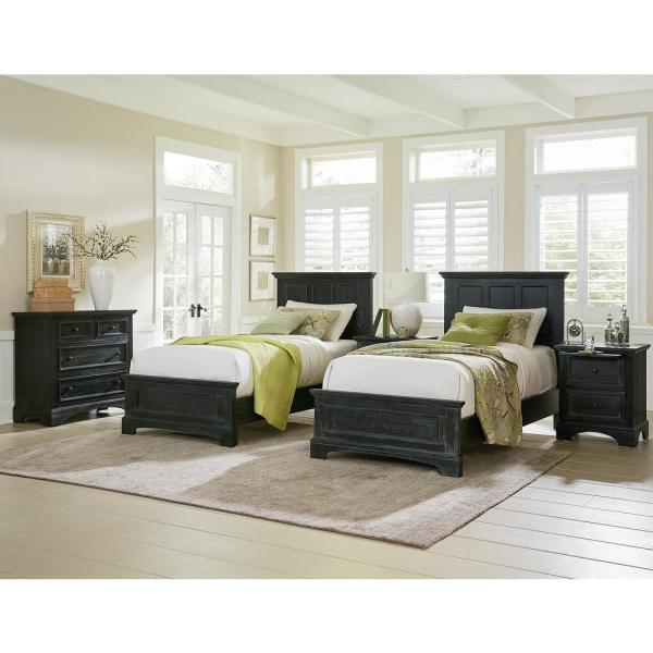 OSP Home Furnishings Farmhouse Basics Double Twin Bedroom ...