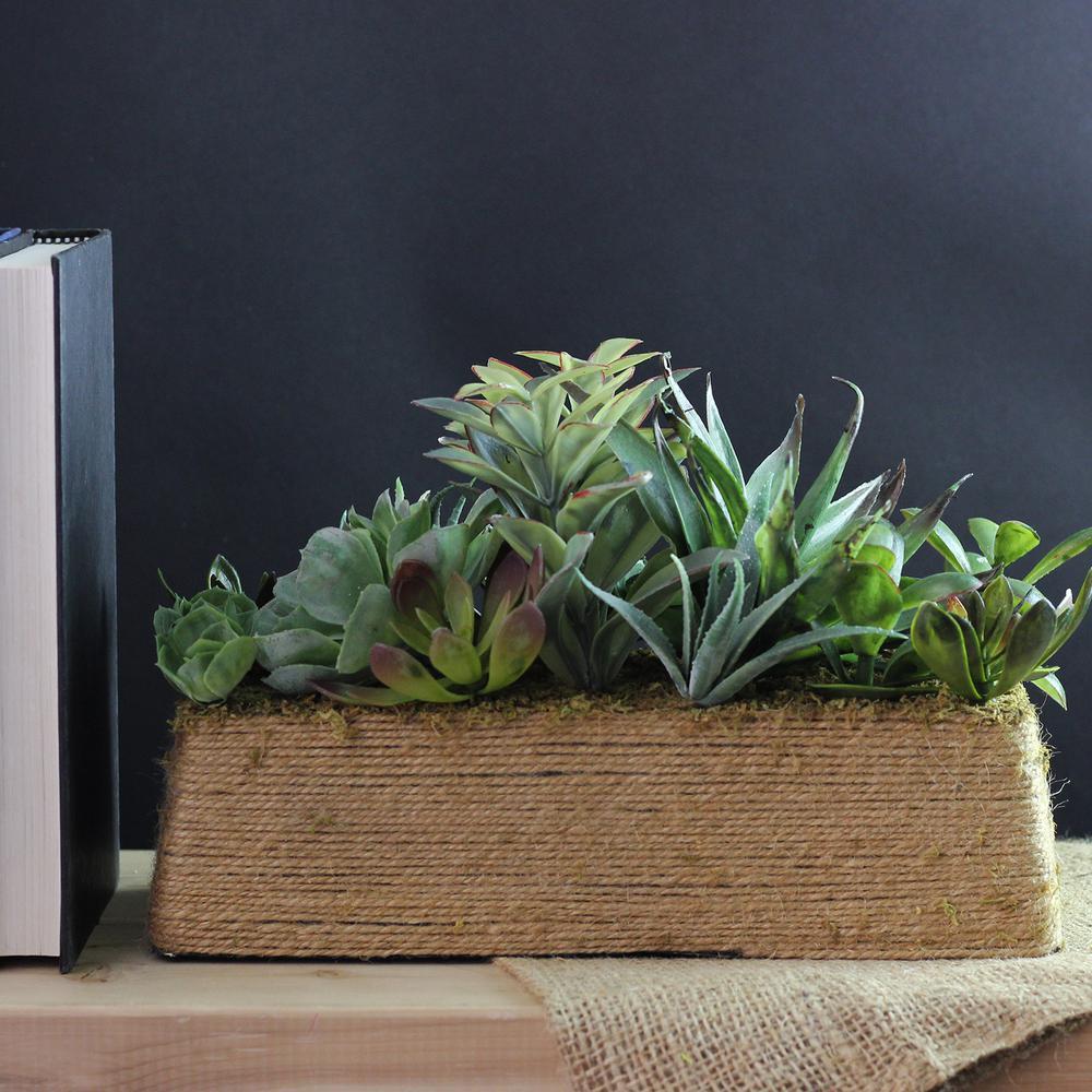 12.5 in. Artificial Succulent Plants in Pot