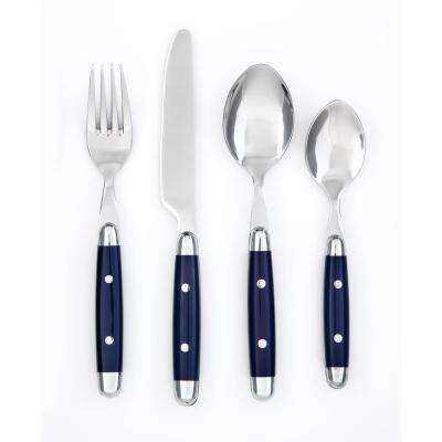 Jubilee 16-Piece Blue Flatware Set