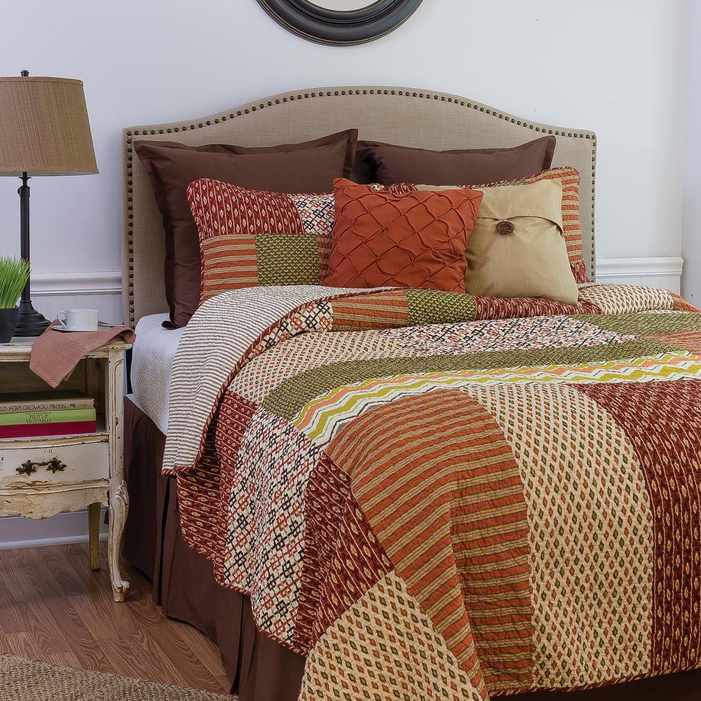 C&F HOME Brown Santa Ana Twin Quilt Set 82170.2TSET