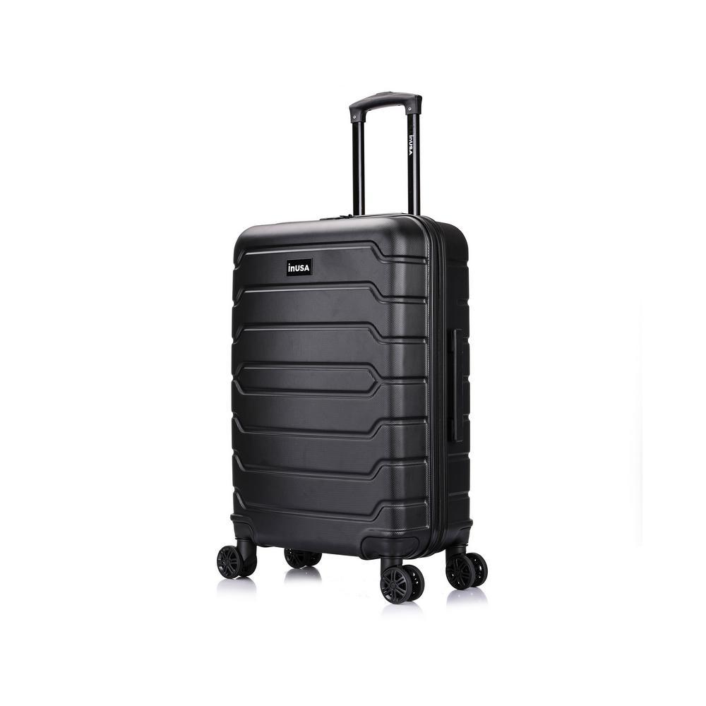 Trend 26 in. Black Lightweight Hardside Spinner Suitcase