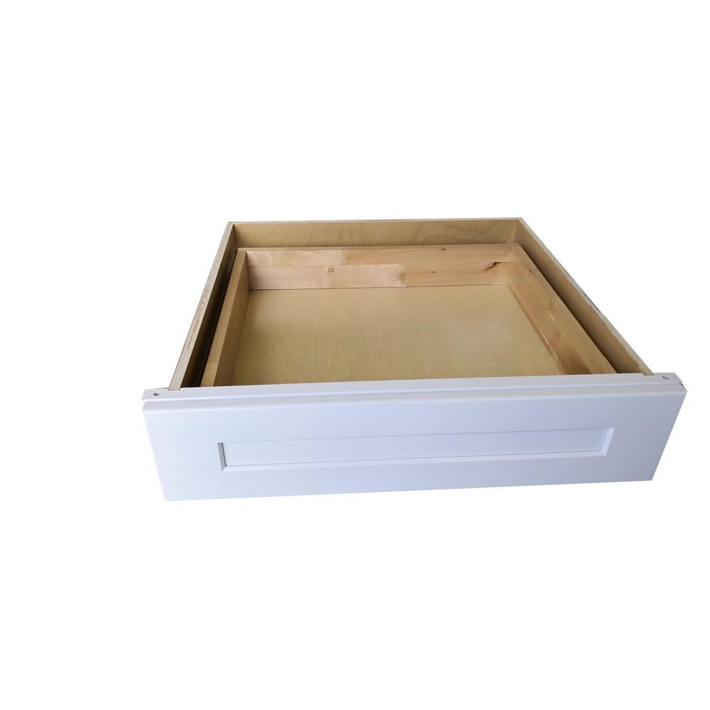 Plywell Ready to Assemble Shaker 30x7x21 in. Base Knee Drawer in