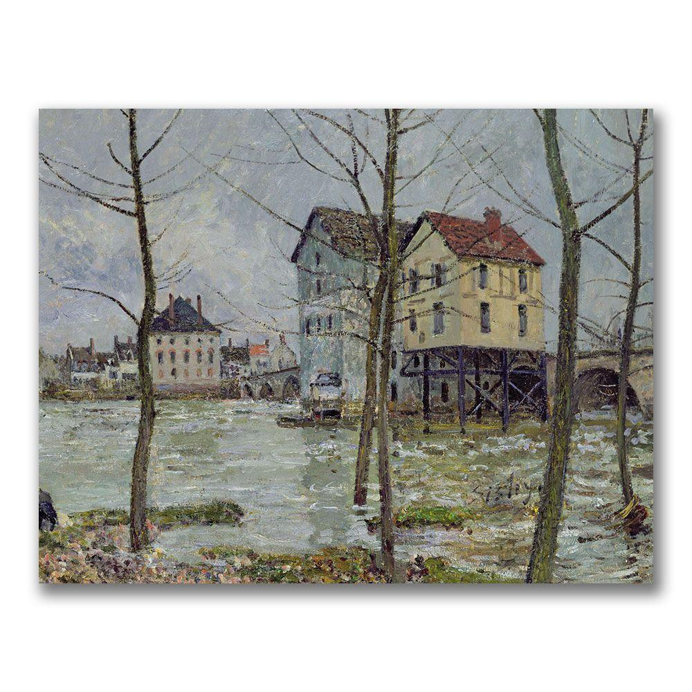Trademark Fine Art 24 in. x 32 in. The Mills at Moret-sur-Loing Canvas Art