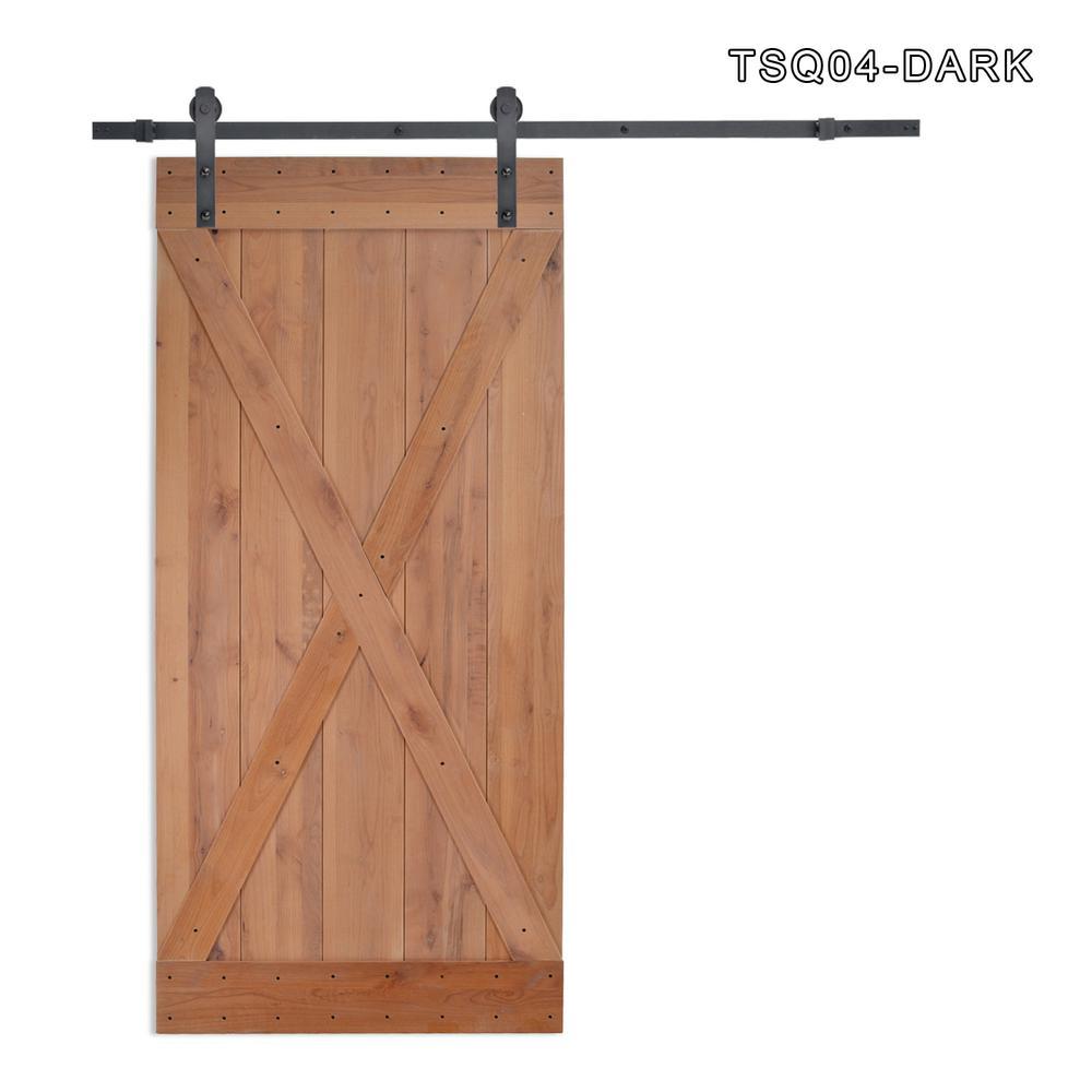 X Overlay Primed Natural Wood Finish Sliding Barn Door
