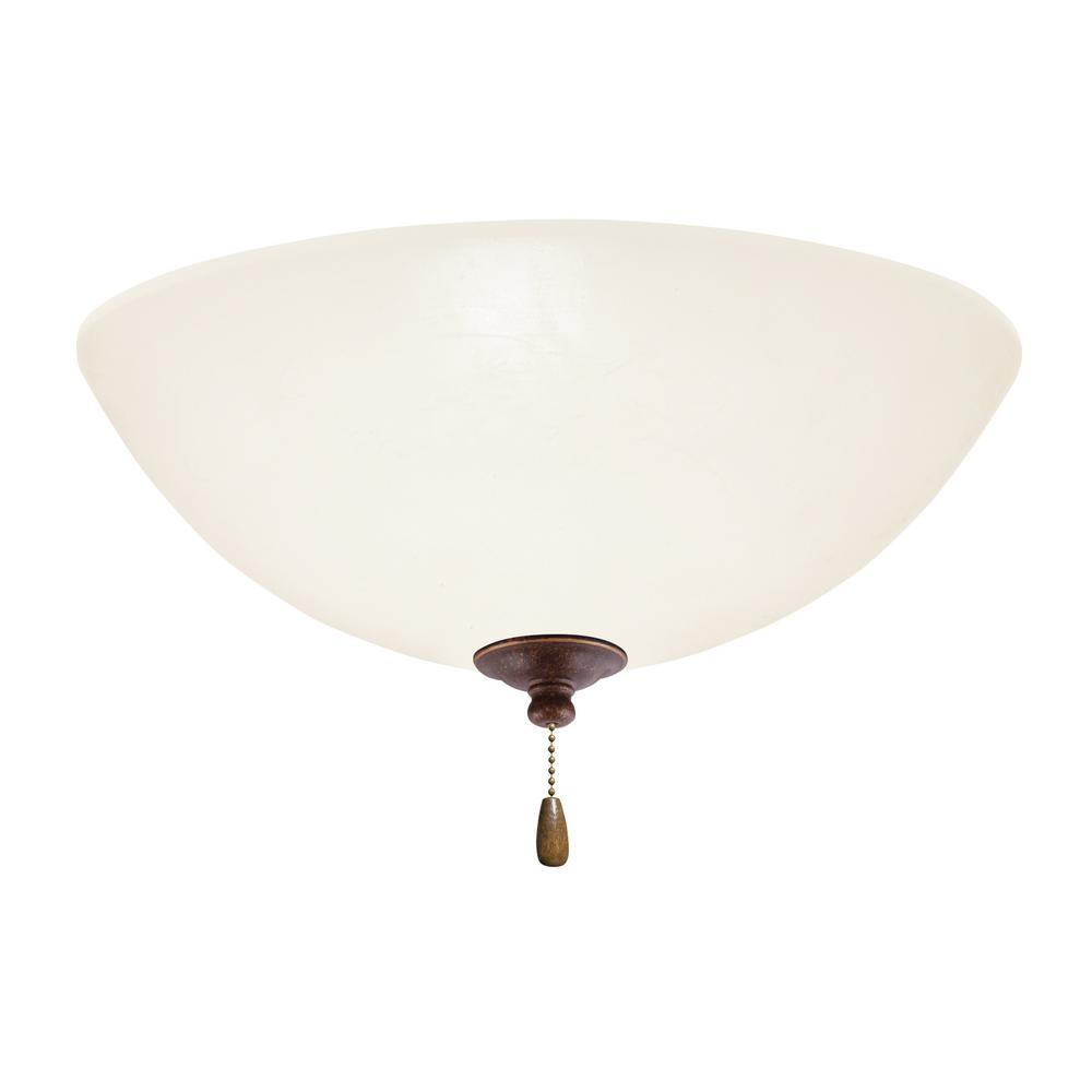 Opal Matte 3-Light Gilded Bronze Ceiling Fan Light Kit