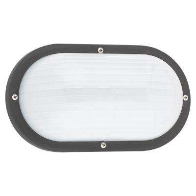 Bayside 1-Light Outdoor Black Wall/Ceiling Fixture