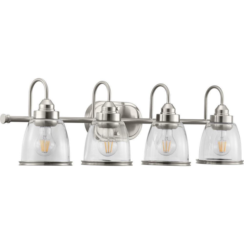 Progress Lighting Saluda Collection 4-Light Brushed Nickel ...