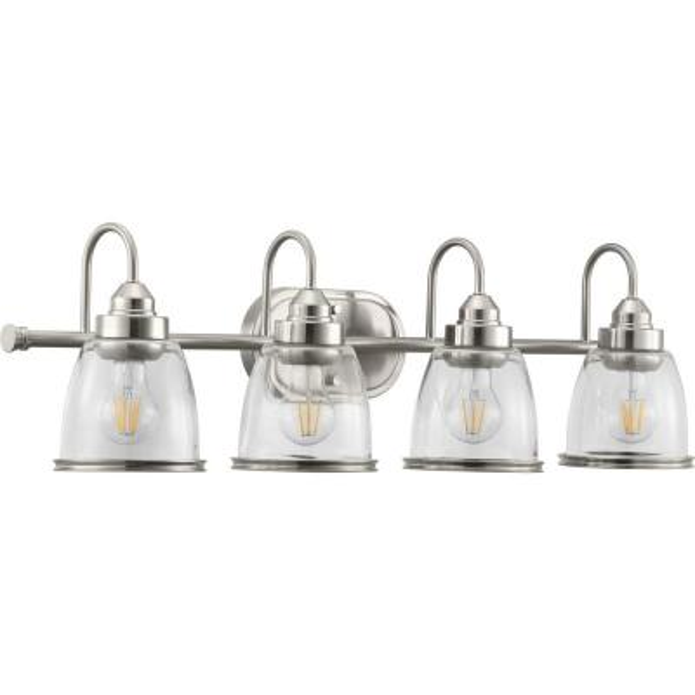 Saluda Collection 4-Light Brushed Nickel Bath Light