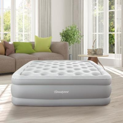 Sky Rise 16 in Full Adjustable Comfort Coil Top Raised Air Bed Mattress with Edge Support and Express Pump