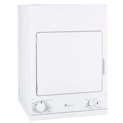 3.6 cu. ft. 240-Volt White Stackable Electric Vented Stationary Compact Dryer