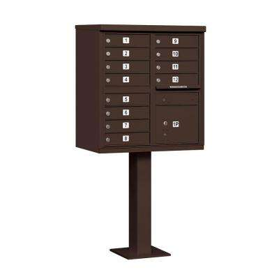 3300 Series Bronze Private 12A Size Doors Type II Cluster Box Unit