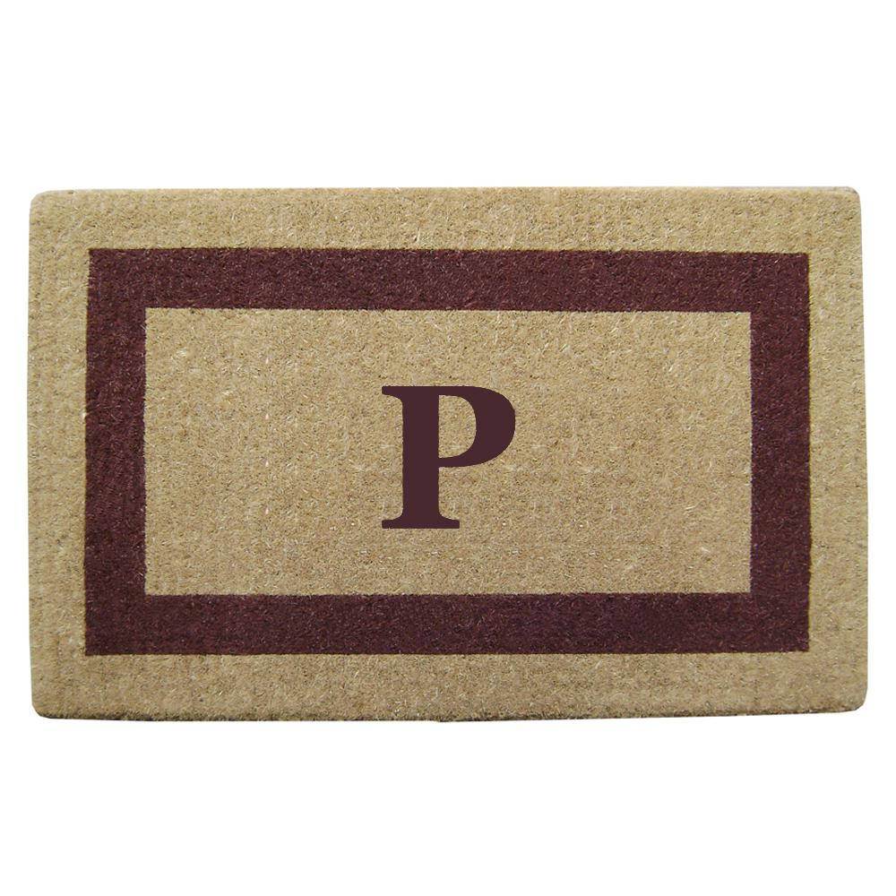 Nedia Home Single Picture Frame Brown 38 In. X 60 In. Heavy Duty Coir