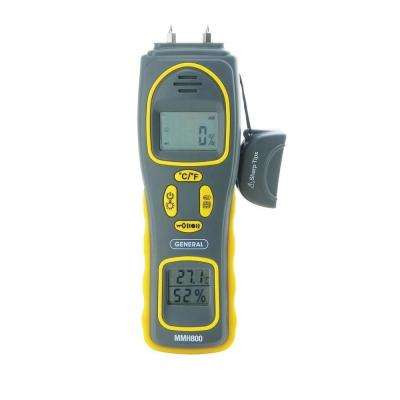 4-in-1 Pin/Pad Moisture Meter with Humidity and Temperature Display