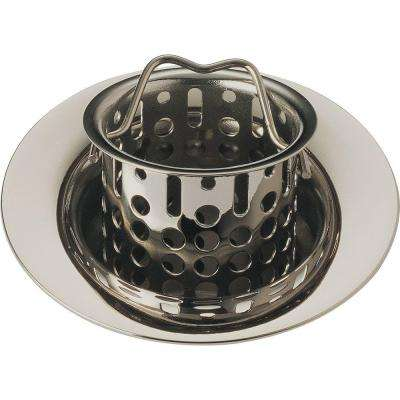 2-7/8 in. Bar/Prep Sink Flange and Strainer in Brilliance Polished Nickel