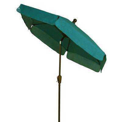 7.5 ft. Patio Umbrella in Forest Green