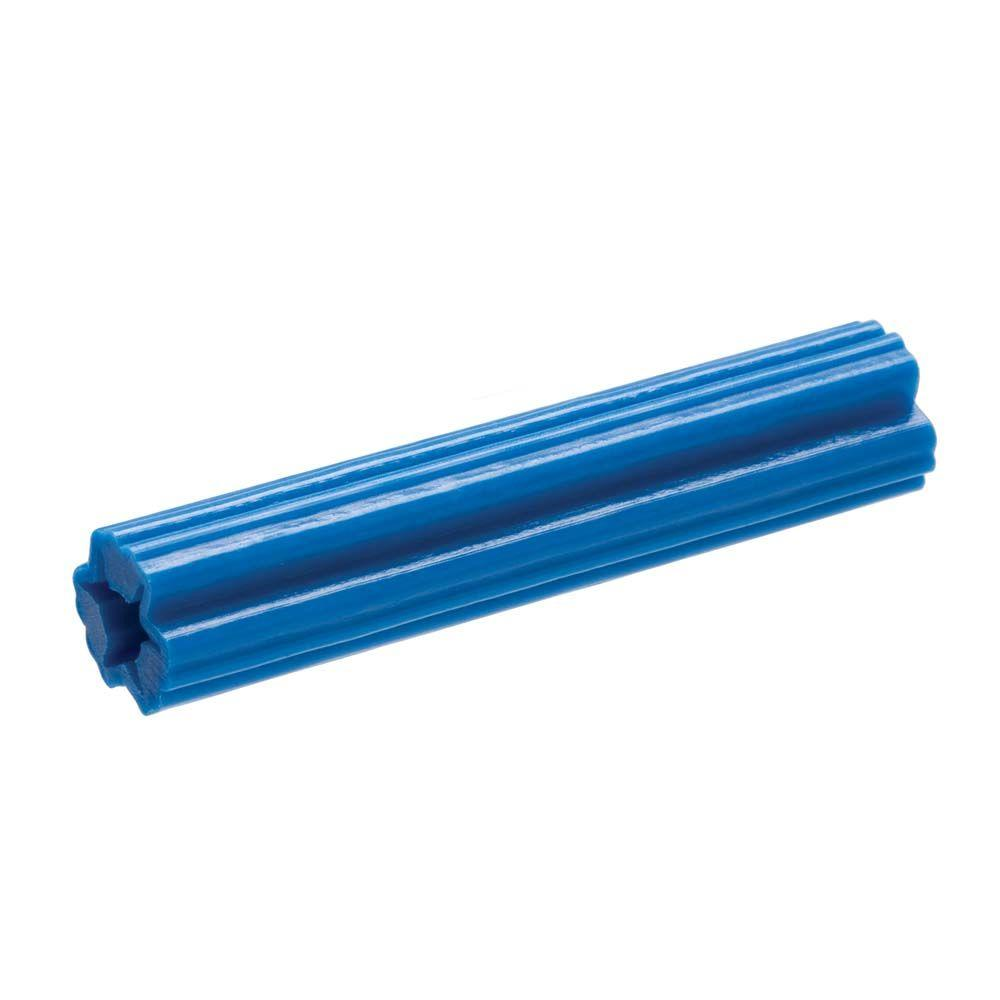 Everbilt #12-14 tpi x 1-1/2 in. Blue Plastic Plug (8-Pack)