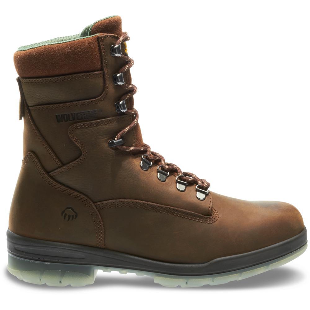 "Wolverine Men/'s Work Boots Safety Size 11EW Brown Nubuck Leather Waterproof 6/"""