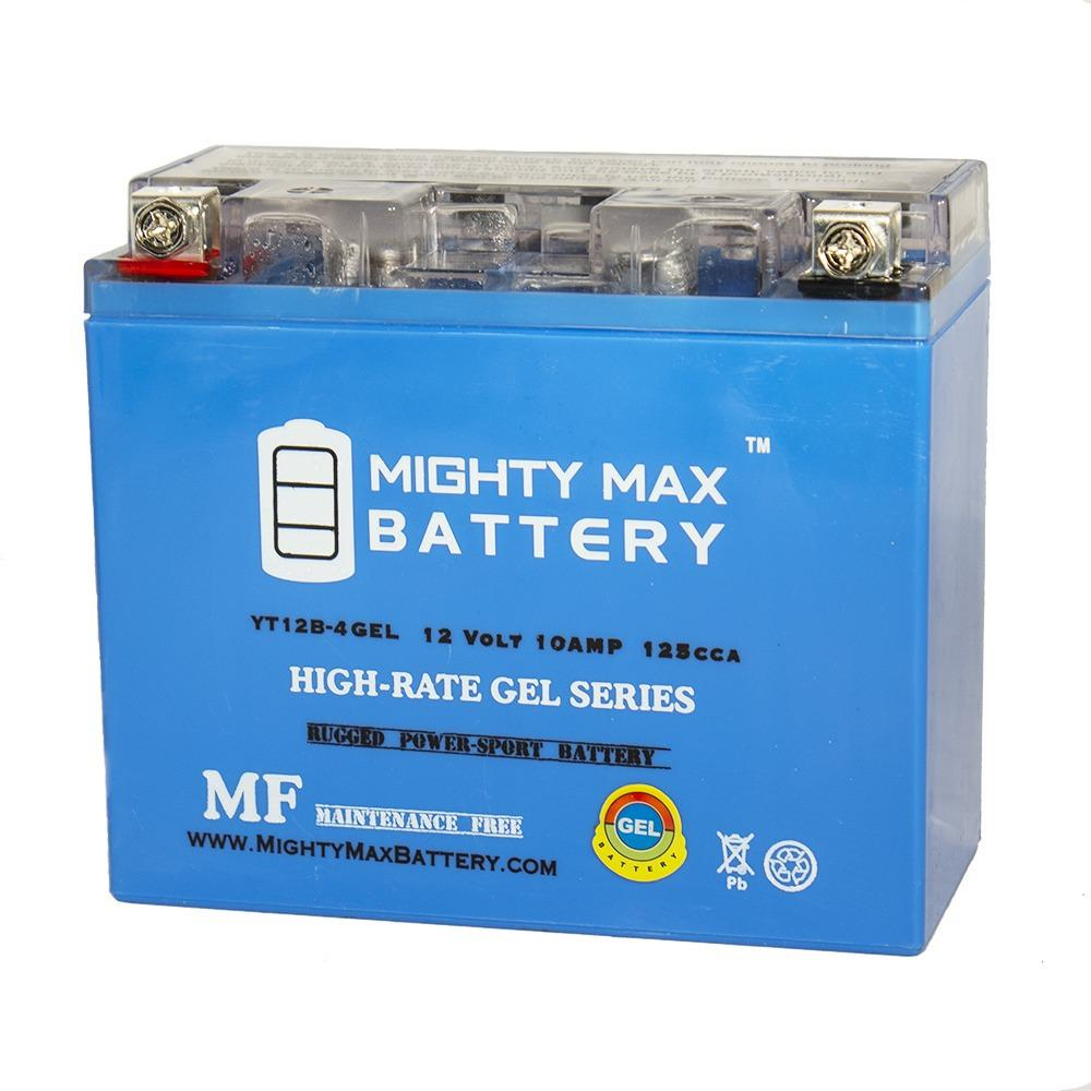 MIGHTY MAX BATTERY 12-Volt 10 AH 160 CCA GEL Rechargeable Sealed Lead Acid (SLA) Powersport Battery