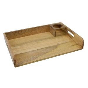 Brown Rectangle Wood Tray