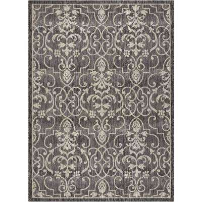 Country Side Charcoal 5 ft. x 7 ft. Indoor/Outdoor Area Rug