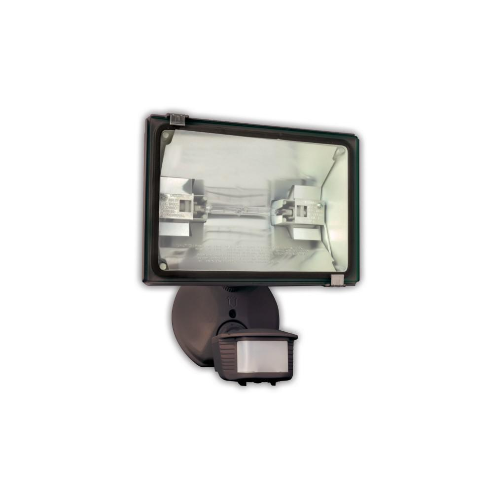 Lithonia lighting 300 watt or 500 watt quartz outdoor halogen bronze 500 watt 180 diecast metal bronze motion activated security flood light with workwithnaturefo