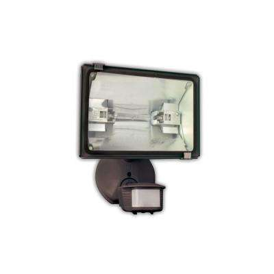 500-Watt 180-Degree Bronze Motion Activated Outdoor Dusk to Dawn Security Flood Light with Halogen Bulb